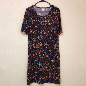 LulaRoe Julia Fall Dress Size 2XL New, no tag